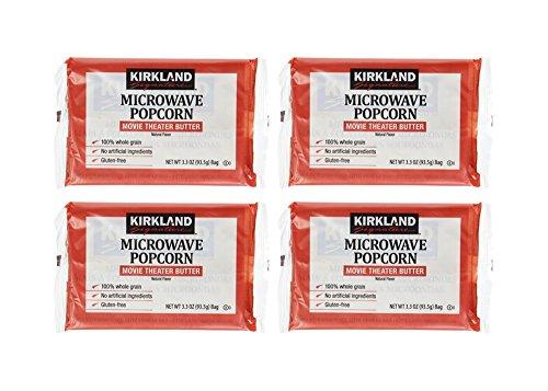 【お試し4袋セット】カークランド MICROWAVE ポップコーン 93.5g×4袋 ( グルテンフリー )