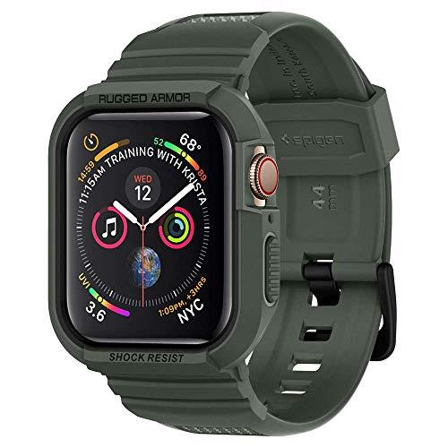 【Spigen】 Apple Watch バンド 一体型 ケース Series 4 44mm 対応 落下 衝撃 吸収 ラギッド・アーマー プロ 062CS26016 (ミリタリー・グリーン)