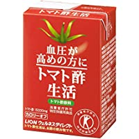 特定保健用食品:ライオン 血圧が高めの方に適した トマト酢生活紙パック 30本入(約30日分)