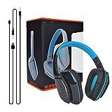 COOAU EACH B3506 ワイヤレスヘッドホン ブルートゥースヘッドセット 折り畳み 軽量持ち便利 3.5mm有線と無線両用ヘッドフォンPS4 XBOX タブレット iPhone スマホなどに対応 ブルー
