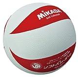 ミカサソフトバレーボールホワイトレッド 小学校ソフトバレーボール試合球 1~4年生用 MS-M64-WR