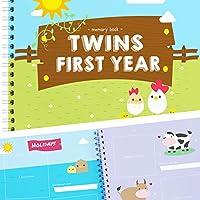 Unconditional Rosie 双子ちゃん誕生 -美しいベビーメモリーブックで双子の1年目を記録できます。双子を妊娠しているママへのプレゼントに最適。ゴージャスな双子の赤ちゃん用ギフト -ファームバージョン