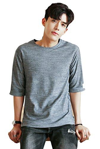 夏服?メンズ ビッグ Tシャツ 5分袖 半袖 大きいサイズ 通勤 通学 運動 日常用
