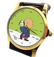 チャーリー・ブラウンは、ヴィンテージカラフルなピーナッツはコレクターの腕時計、30ミリメートル、ユニセックスの芸術 CHARLIE BROWN