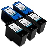 Printronic Remanufactured Ink Cartridge Replacement 5 Pack for Dell Series 5 M4640 M4646 (3 Black, 2 Color) - Dell 922, 924, 942, 944, 946, 962, 964 by Printronic