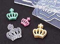 (ka115) シリコンモールド クレイジュエリー 王冠両面型 ティアラ クラウン 立体型 レジン 粘土