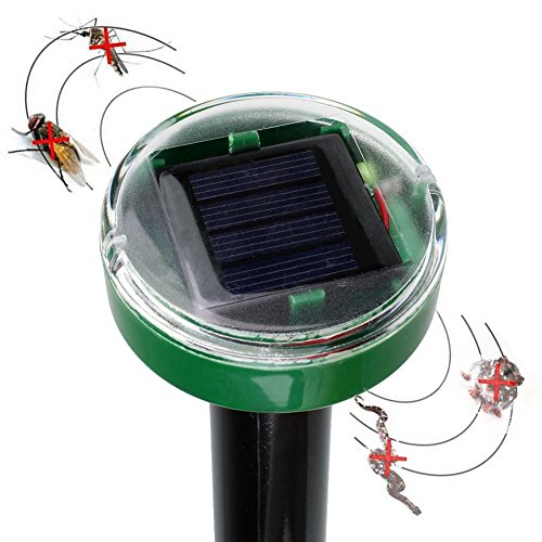 Generic Pro Solar Power Ultrasonic Mosquitos Pest Balcony Reject Repeller Control Mice Mouse Repellent
