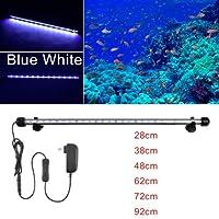 FidgetGear RGB防水水族館の水槽ランプLED水中ライトバー+リモート Length Type One size