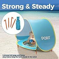 ポート3 in 1ビーチ赤ちゃんテントUV Sun用保護| Pop Up、コンパクト、軽量折りたたみ式、&ポータブルシェードキャノピーとして使用|インドア再生テント、防水幼児Kiddieプール保護、または幼児用