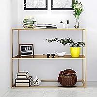 CHUNLAN 本棚 様々な色とサイズのメタル多機能ブックシェルフ (色 : ゴールド, サイズ さいず : 80*30*80cm)