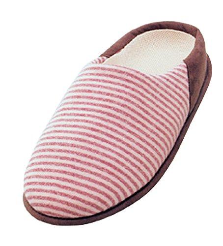 介護シューズ あゆみ チャルパー 室内用 ピンク Mサイズ(22.0~23.0cm) 足囲3E相当 両足