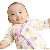 新生児 肌着セット ベビー 赤ちゃん 肌着 服 4枚セット 短肌着 50-60cm コンビ肌着 50-70cmオーガニックコットン 綿100% フライス ドット 小花柄 女の子