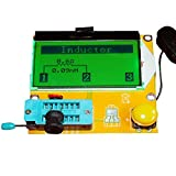 KKmoon 多機能 LCDテスター LCRメーター トランジスタテスター バックライトト付き ダイオードトライオード容量 ESRメータMOS PNP NPN LCR(ケースなし)