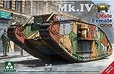 TAKOM 1/35 第一次世界大戦 イギリス軍 重戦車 Mk.4 2in1 メール/フィメール プラモデル TKO2076
