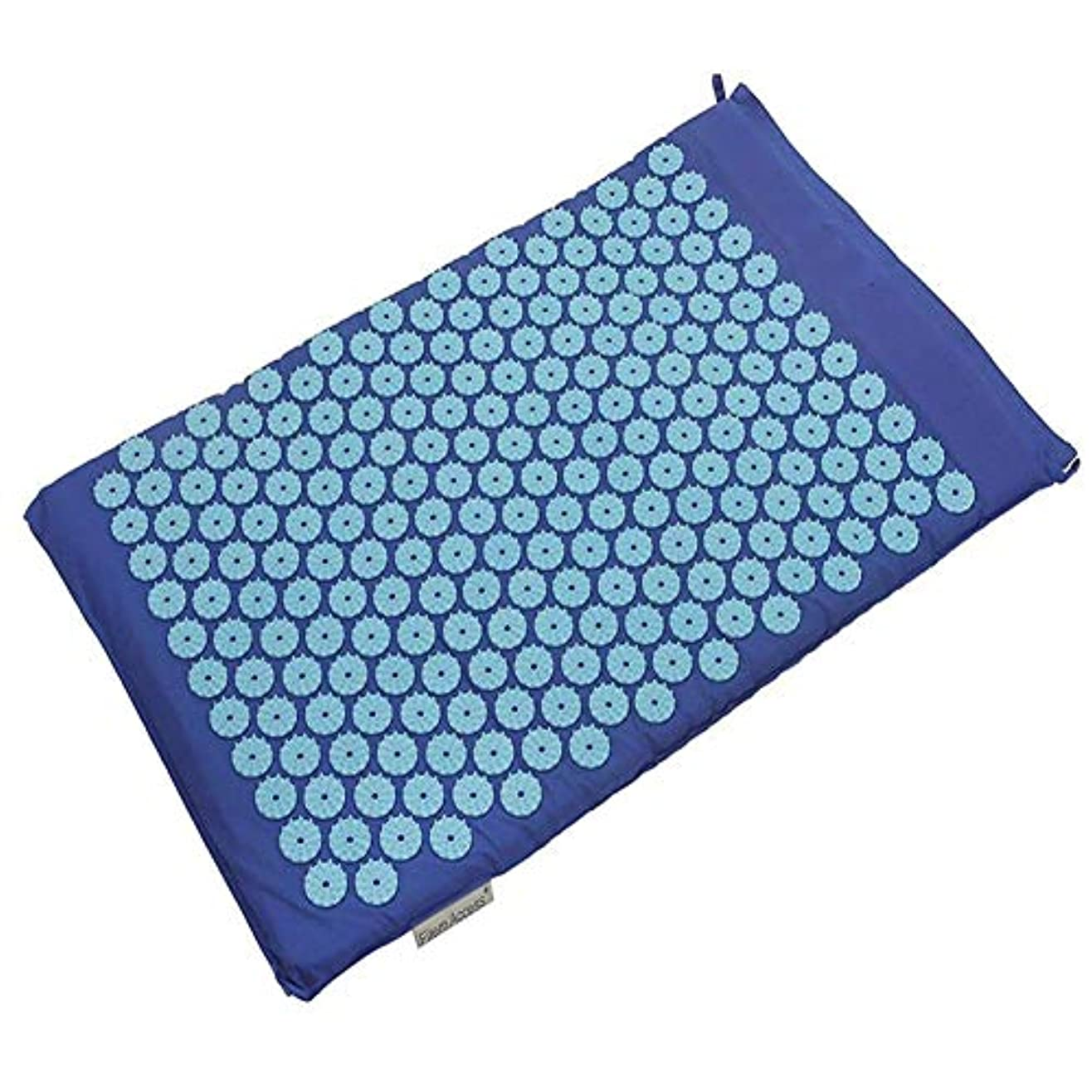 軍団苦しむありふれた鍼massageマッサージヨガマット、オリジナルの指圧枕、首と肩のマッサージ、健康なだめるようなマッサージクッションマッサージクッション,Mat Blue(B)
