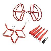 Sharplace プロペラ エアスクリュー 着陸装置 プロペラカバー Hubsan X4 H501S H501C 用 全3色 - 赤