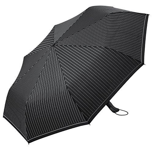 PLEMO 折り畳み傘 自動開閉式折りたたみ傘 ワンタッチ自動開閉 高耐風構造 高強度グラスファイバー 超撥水性 116センチ 縞模様