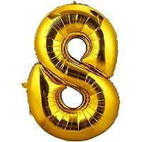 ゴム風船 ナンバー バルーン 数字8 風船 数字バルーン 結婚式 誕生日 パーティー 飾り付けに 巨大90cm 2個セット