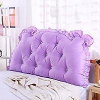 Super Kh® ベッドサイドクッションダブルピープソファバックレストは、ウエストピローを保護する (色 : 18#, サイズ さいず : 135*70*15cm)
