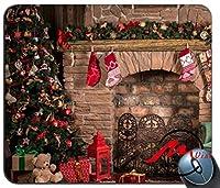 ZMviseクリスマス装飾シルエット海海岸サンセットファッション漫画マウスパッドマットカスタム四角形ゲームマウスパッド