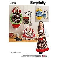 Simplicity Creativeパターンus8717osキッチンアクセサリーとエプロンCrafts