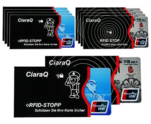 CiaraQ カードケース RFID 磁気 スキミング 防止クレカ 10枚カード