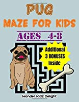 Pug Maze For Kids Ages 4-8: Helping Pug Locate Delicious Bone Kids Activity Book (Mazes For Children)