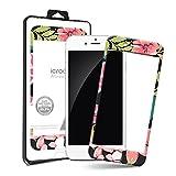 i-croo-A iPhone6/6S フルカラーデザインガラス 液晶保護フィルム 99.99%抗菌機能 強化ガラス 液晶保護製品 2.5Dラウンドフルカバー 指紋防止 10H表面強度 [海外直送品] (07. Pink Rose Black) [並行輸入品]