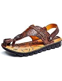 (ハンフウ) HUMGFENG メンズサンダル ビーチサンダル トングサンダル スリッパ コンフォートサンダル 本革 男性 夏 滑り止め 歩きやすい 軽量 2色展開 24.0cm~26.5cm