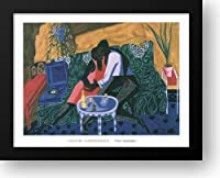 The Lovers、1946年36x 28額入りアートプリントby Lawrence , Jacob