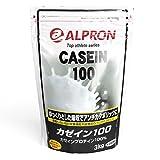アルプロン カゼインプロテイン100 無添加 3kg【約150食】