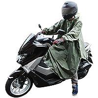 CarOver 極厚 袖付き レインポンチョ メンズ レディース バイク 自転車 原付 スクーター フリーサイズ レインコート レインウェア レインスーツ 雨ガッパ 通勤 通学 (グリーン) CO-RAIN-PONCHO-GR