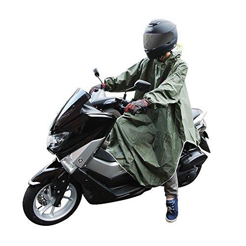 CarOver 極厚 袖付き レインポンチョ メンズ レディース バイク 自転車 原付 スクーター ...