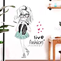 Faaddd Diyのかわいい女の子アートウォールステッカー子供部屋Pvc壁デカール寝室の家の装飾60×90センチ