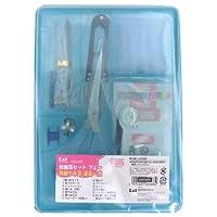 裁縫箱セット ブルー KM3033