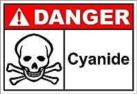 Hypothesis 30x20cm 警告ポスター ブリキ 看板 Cyanide Danger OSHA/ANSI がいる壁の装飾用のティンサイン