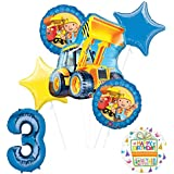Mayflower Products Bob The Builder Construction Party Supplies 3歳の誕生日用バルーン ブーケ デコレーション