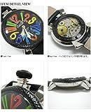 腕時計 48MM MANUALE マヌアーレ CARBON STEEL 5015 ブラック/マルチ ガガミラノ画像③