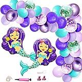 マーメイド飾り パーティー 可愛い風船 人魚 人魚姫バルーンアーチ ベビーシャワー 100日 半歳 1歳 誕生日お祝い 結婚式パーティー飾り付け 幼稚園 部屋装飾