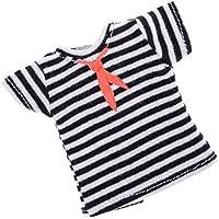 SONONIA  カジュアル  ネクタイプリント  ストライプ  半袖  Tシャツ  12インチブライスドール用