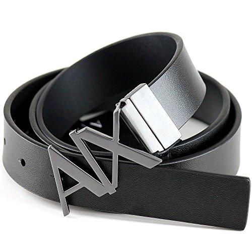 ARMANI EXCHANGE(アルマーニ エクスチェンジ)リバーシブル 本革 ベルト メンズ 黒 34