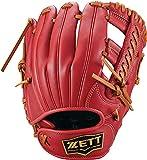 ゼット(ZETT) 少年軟式野球 グラブ グランドヒーロー オールラウンド用 右投げ用 レッド×オークブラウン(6436) サイズ:M(身長130~145cm向け) BJGB76130