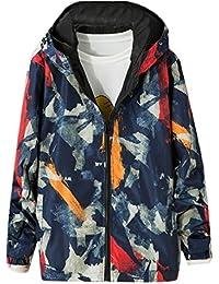 Keaac メンズロングスリーブ軽量スポーツウェアの落書きのフード付きのジャケットのコート