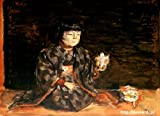 岸田劉生「麗子の座像」 原画同縮尺近似(10号) kisida-01-05