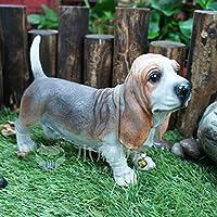 シミュレーション、庭の動物の犬の装飾品、屋外の庭ミニパグの装飾創造的な居間のポーチの家具