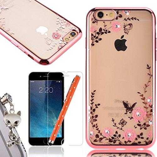 WeLoveCase iphone6 iphone6s 対応 ソフトケース TPU きらきら ラインストーン カバー タ...
