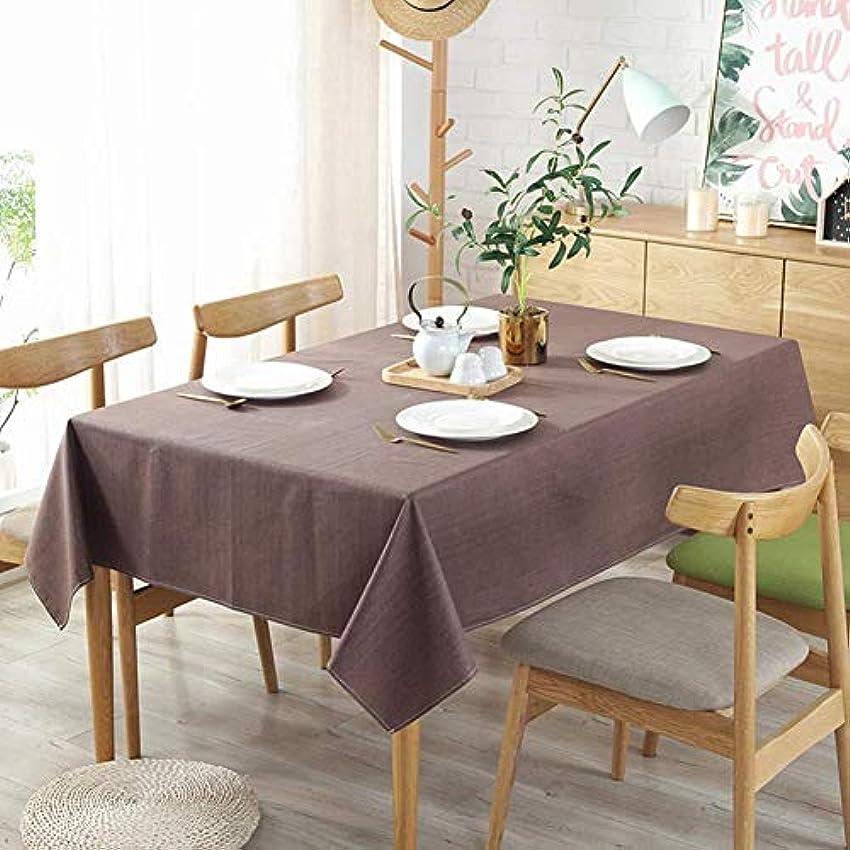 十分です第三かわいらしいクリスマス テーブル クロス テーブルクロスは、屋内、屋外に適したクリーンテーブルクロス長方形リネンテーブルカバーソリッドカラー防水?防油テーブルクロスを拭き (Color : Brown, Size : 140×220cm)