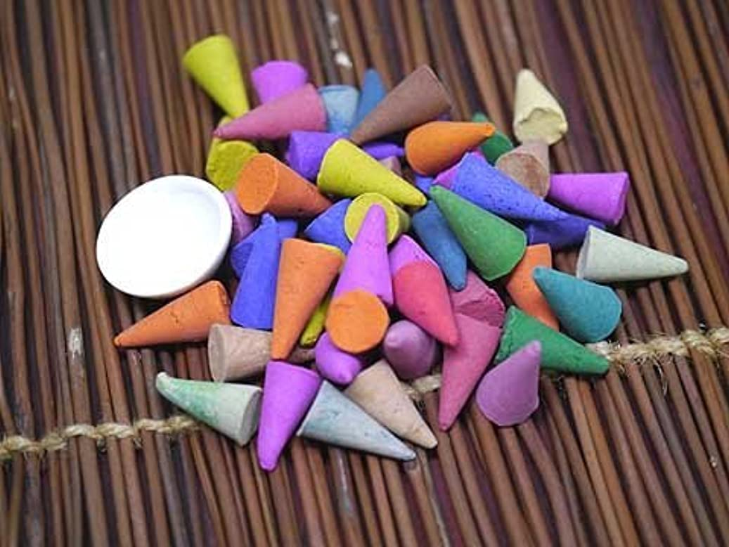 テザースコア非公式THAI INCENSE タイのコーン香ミックスアソートお香皿付き 披露宴などのプチプレゼントにも最適 フレグランス系の香り