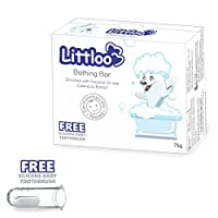 LITTLOO Baby's Syndet Bathing Bar with pH 5.5 with Silicone Brush 75g