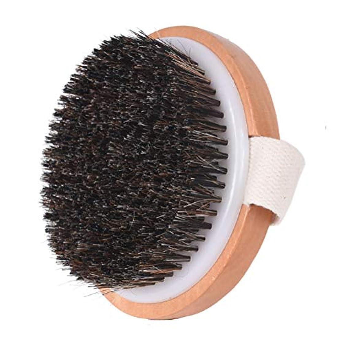 感情の絶対のクモMaltose 馬毛ボディブラシ 天然素材 柄なし お風呂用 体洗いブラシ 柔らかい 足洗い つるつる美肌に 竹製